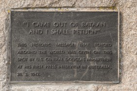 General Douglas MacArthur first delivered his famous speech here at Terowie railway station