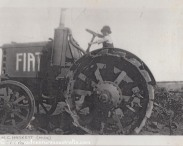Young Mick driving the tractor