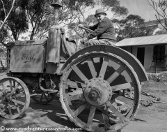 Not so young Mick on the same tractor 80 years later