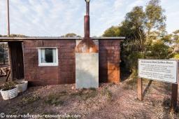 Settlers cottage. Walls made from beaten and flattened kerosene tins.