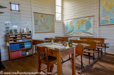 The one teacher school. Kimba Museum.