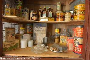 Kitchen pantry of old.