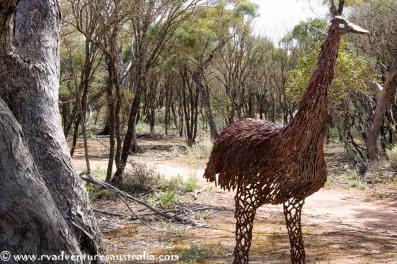 Emu sculpture, Roora walking trail. Kimba SA