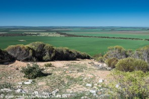 Looking over the grain fields from Secret Rocks near Kimba